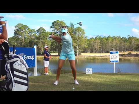 ANNA NORDQVIST 120fps FACE ON SLOW MOTION DRIVER GOLF SWING 2015 CME CHAMPIONSHIP 1080p HD