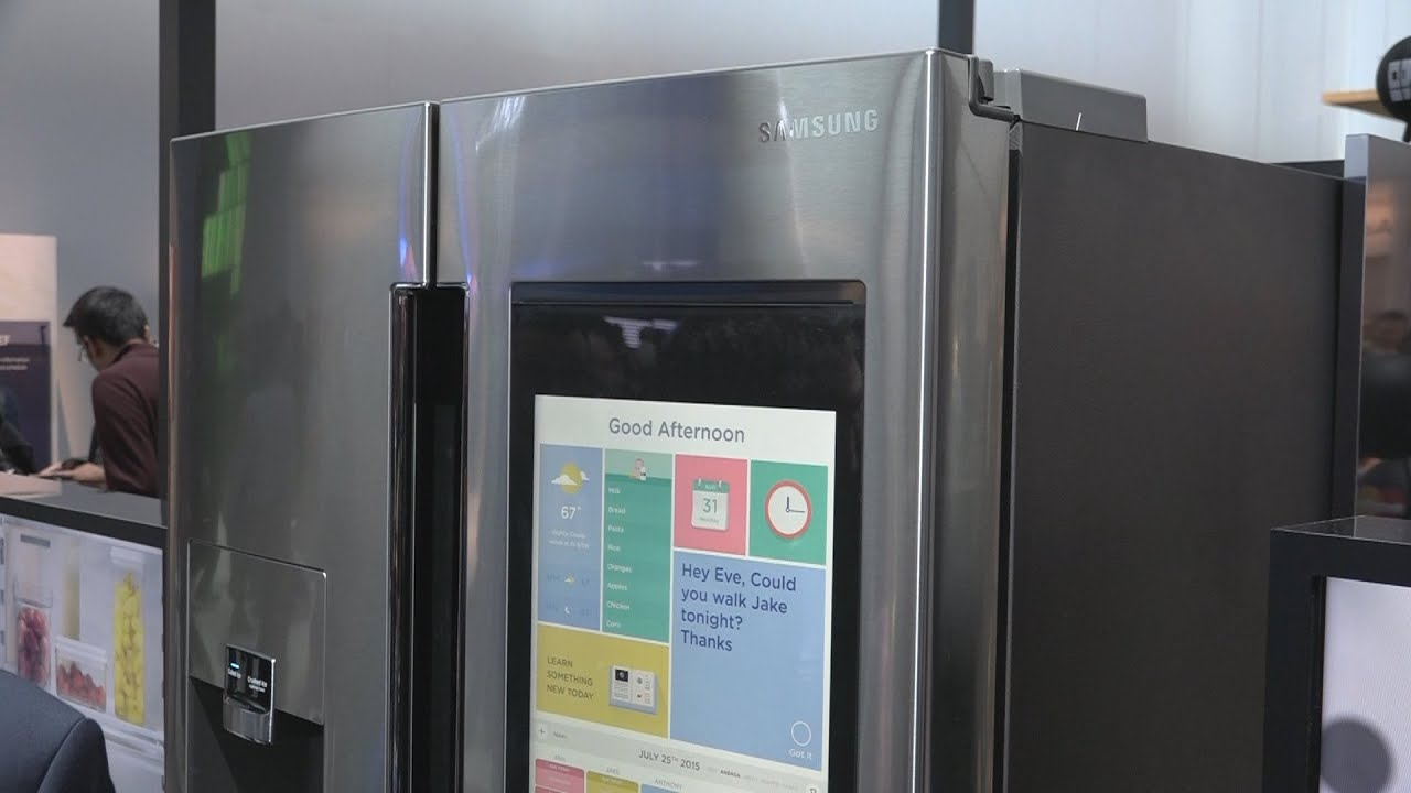 le frigo connect de samsung ces 2016 youtube