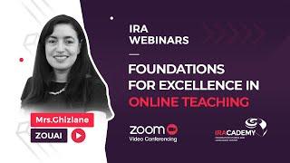 IRACADEMY | webinars #4 Teacher Workshop in Online Teaching with Ghizlane Zouai