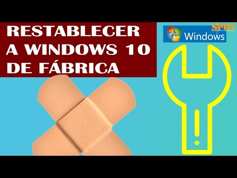 Restablecer Windows 10 de fábrica sin CD y sin formatear