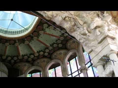 Spain - Barcelona - Palau de la musica catalana : Catalonian Music Palace ; 24 MAY 2014