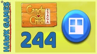 Candy Crush Saga Level 244 (Jelly level) - 3 Stars Walkthrough, No Boosters