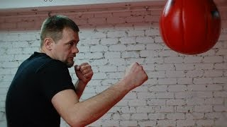 Как тренировать нокаутирующий удар правой на боксерской груше Москва #нокаут