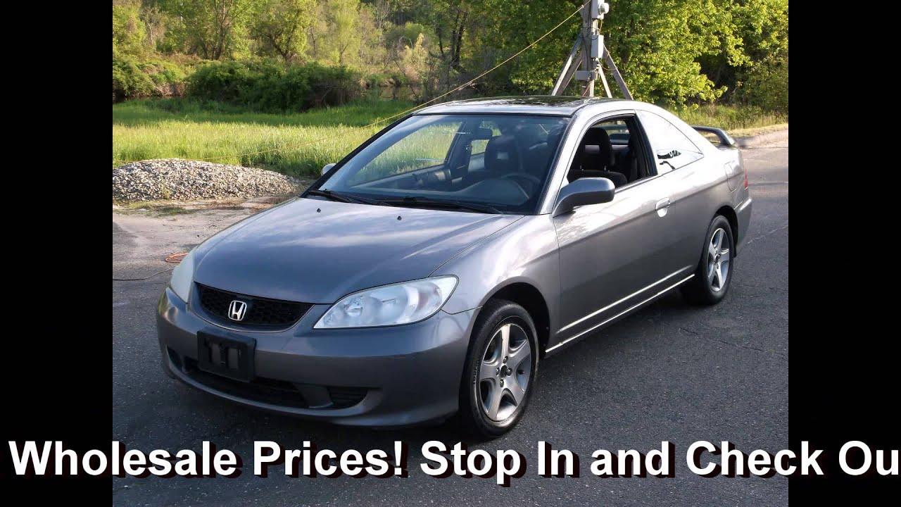 Riverview Auto Sales >> 2004 Honda Civic EX Coupe 2DR - RIVERVIEW AUTO SALES - 413-297-8957 - YouTube