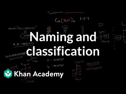Carbohydrates - naming and classification | Chemical processes | MCAT | Khan Academy