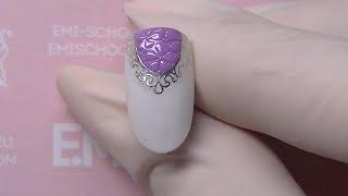 Лунный маникюр. Рисуем цветы на ногтях!