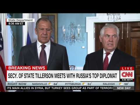 "Russian Foreign Minister Lavrov jokes about Comey firing: ""He was fired? You're kidding!"""
