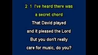 Halleluyah for Karaoke from the musical Shrek