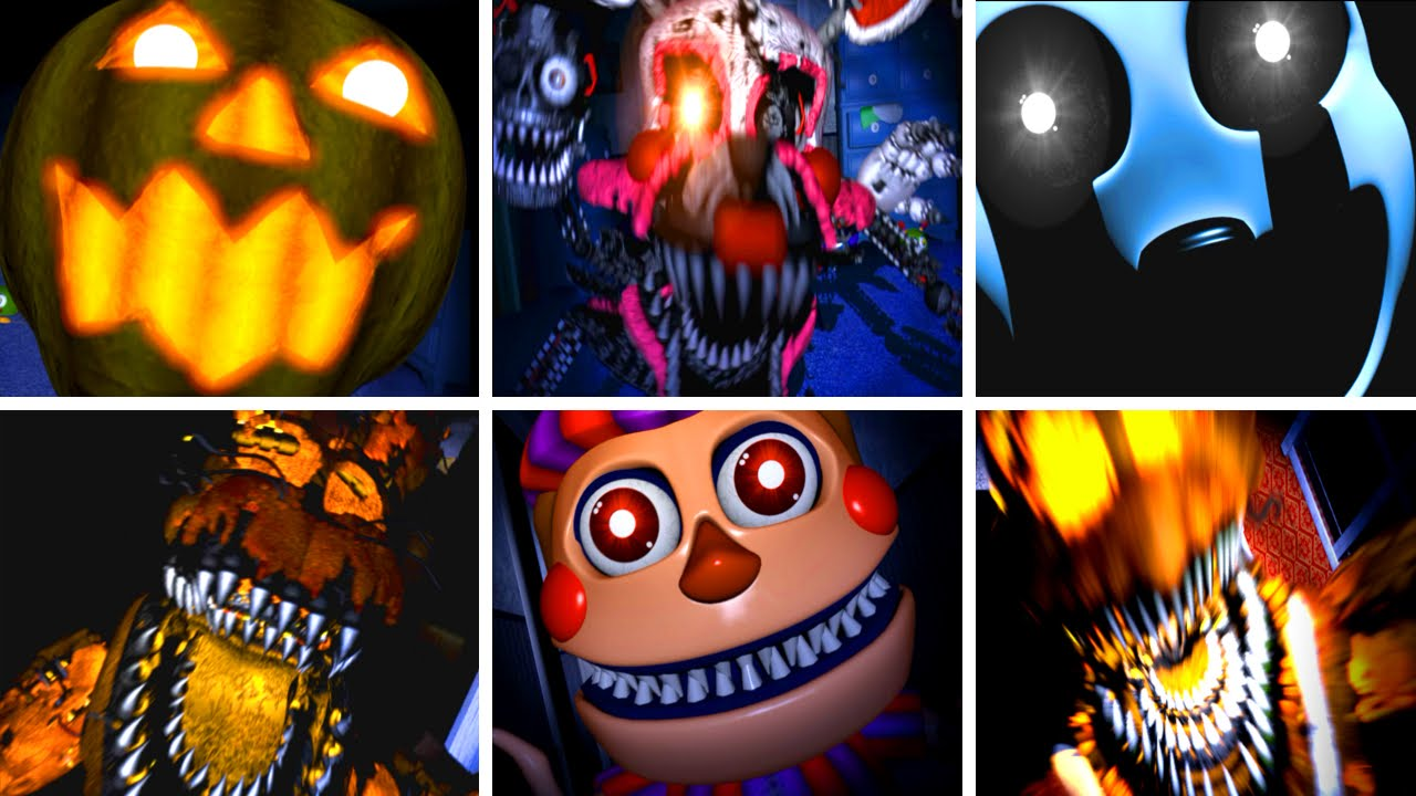Five Nights at Freddy's 4 All NEW Jumpscares - YouTube