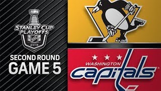 pittsburgh Penguins vs Washington Capitals  May. 05, 2018  Game 5  Stanley Cup 2018. Обзор