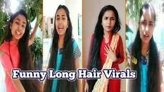 Funny Long Hair Virals   Tik Tok Long Hair Girl   RuntiMe