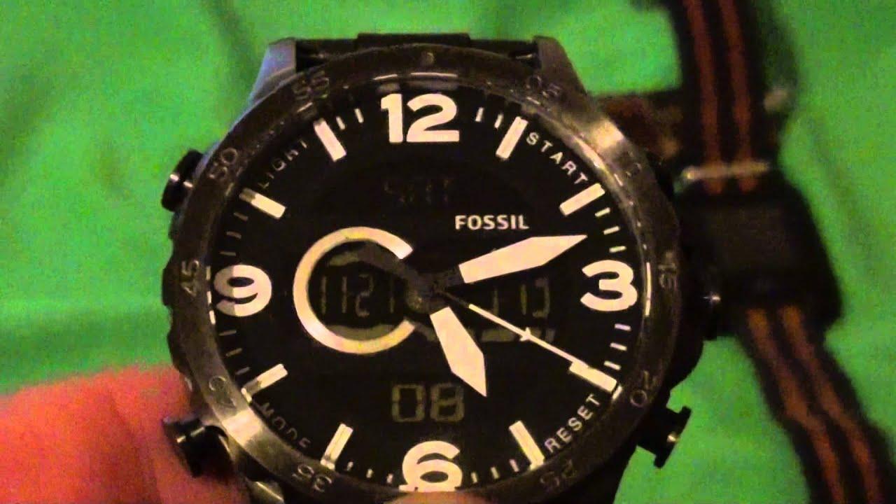 Fossil Antalog Digital Watch Youtube Fs5176