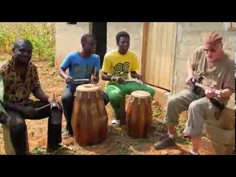 Ghana Cigarbox Guitar Jam, Cornfield, Ghana, West Africa