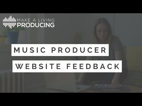 Music Producer Website Feedback - Episode 1 (Daniel Grimmett)