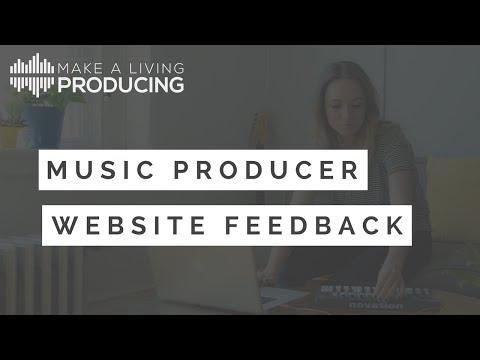 Music Producer Website Feedback - Episode 1 (Daniel Grimmett)