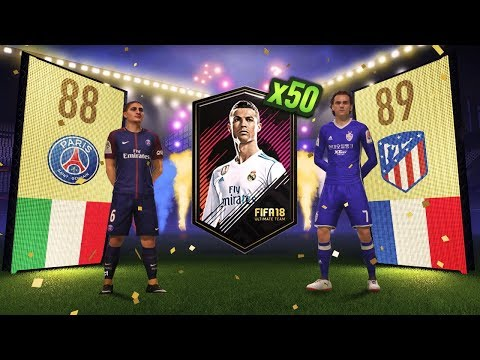50 x 2 PLAYER PACKS!!! FIFA 18 Ultimate Team