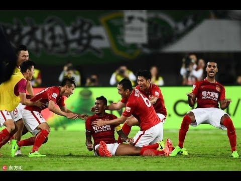 HIGHLIGHTS Guangzhou Evergrande 2:1 Beijing Guoan 暴力比赛暴力鸟暴力绝杀 CSL2017