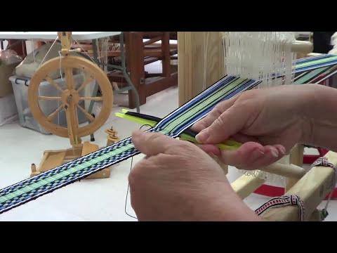Weaving on a Scandinavian Band Loom