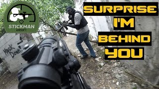 SURPRISING THE ENEMY FROM BEHIND | Sitting Ducks Libis - Airsoft Philippines