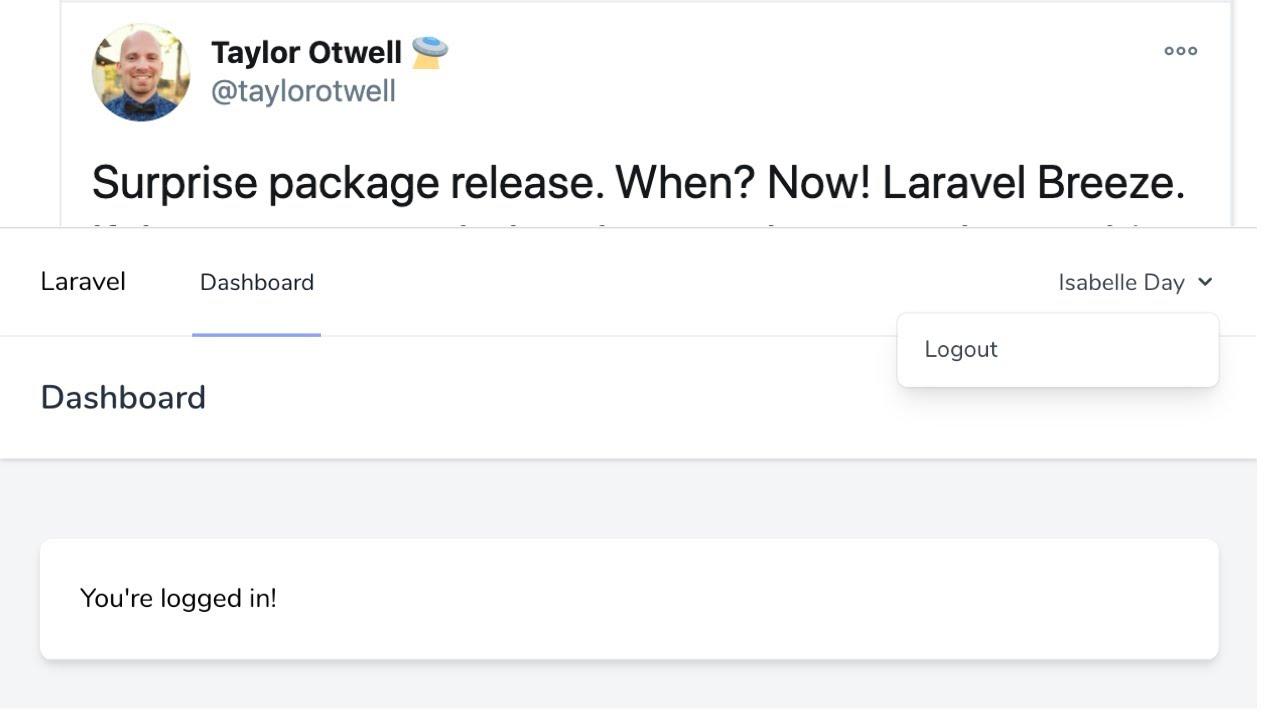 NEW Laravel Breeze