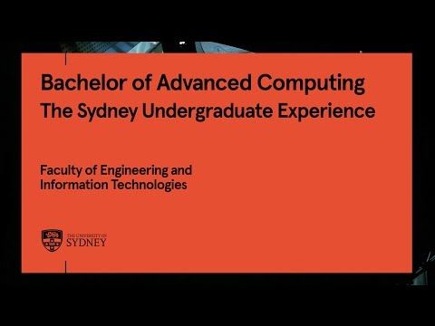 Bachelor of Advanced Computing, University of Sydney