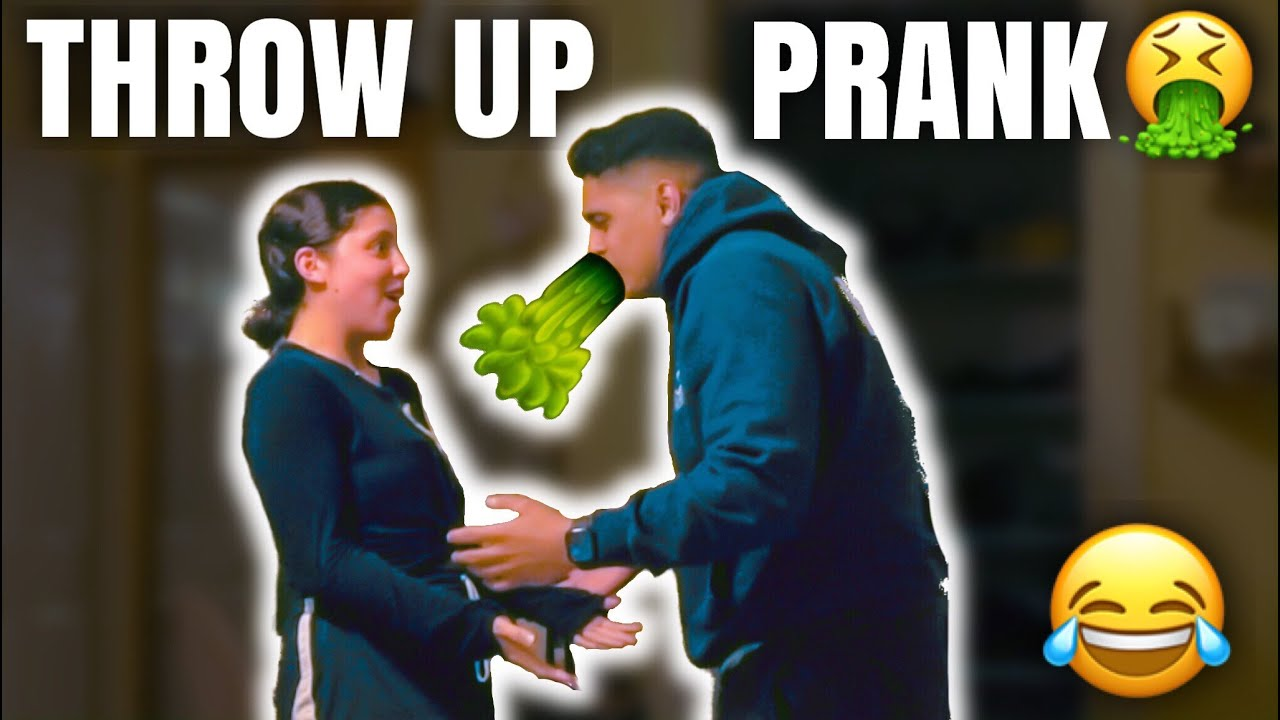 Throw Up PRANK On GIRLFRIEND *Cute Reaction*