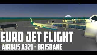 ROBLOX Euro Jet flight. Airbus A321