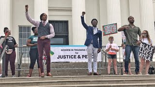 Justice for George Floyd Solidarity Protest in Montgomery