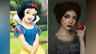 Artist Makes More Realistic Versions Of Cartoon Characters