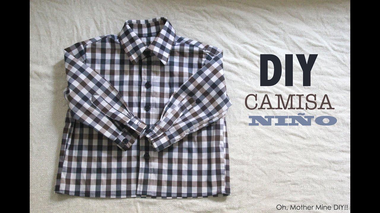 DIY Costura de camisa para bebe niño (patrón gratuito incluido ...