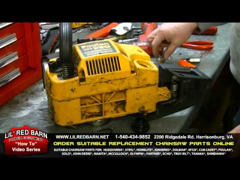 how to start a poulan pro chainsaw