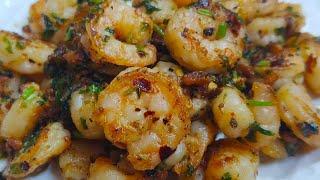 Garlic prawns recipe  kuch bhi nahi accha lagega isko Khane k baad  buttery garlic prawns