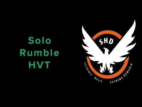 The Division - Solo Rumble - HVT |