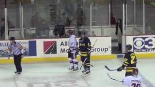 UMass Hockey Senior Night Game Vs. Merrimack 3/9/13 Highlights