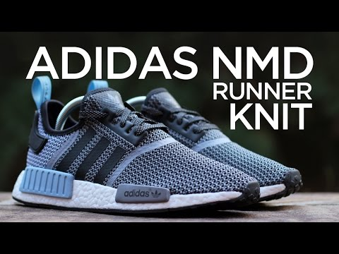 check out d5796 56d27 Closer Look  Adidas NMD Runner Knit - Clear Blue