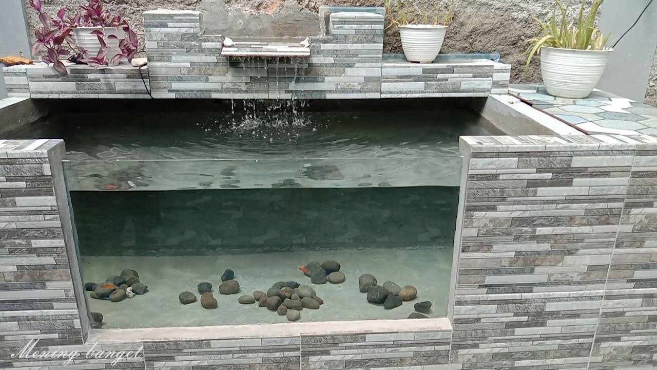 Cara membuat kolam koi sederhana dengan kaca, air tetap jernih & bening