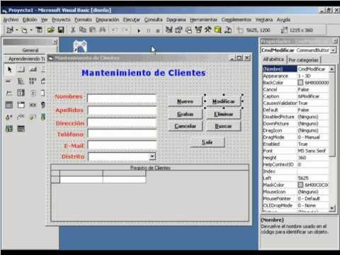 0c4684212b5c3 Curso Visual Basic 6 - VT16  Relacionando Tablas - Mantenimiento Completo  de Clientes