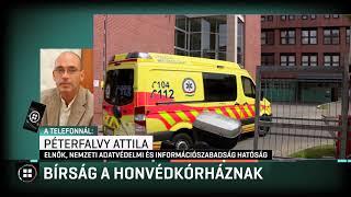 2 és fél millió forintos bírságot kapott a Honvédkórház 19-11-27