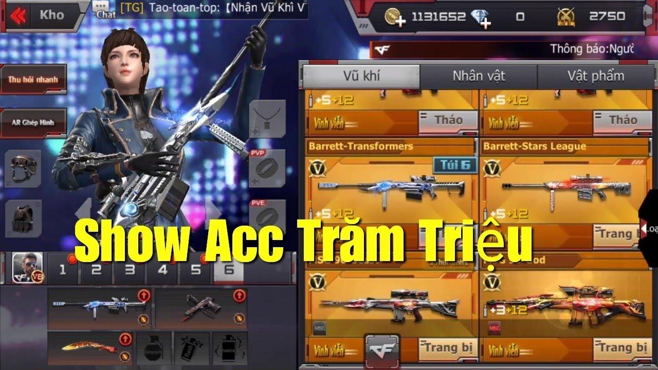 """CF Mobile/CF Legends   Show """"Acc Trăm Triệu"""" Full VIP của VNG - Siêu Khủng √"""