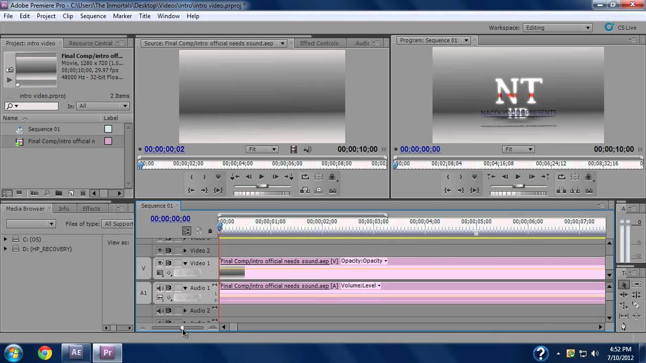 Pivoter une video avec adobe premiere pro