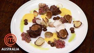 Chef Sat Bain's Beef & Mushrooms Pressure Test | MasterChef Australia | MasterChef World