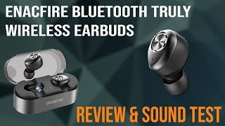 $50 Truly Wireless Bluetooth Earbuds Review & Sound Test | Enacfire E18 Earbuds