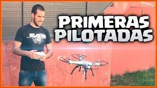 MIS PRIMERAS PILOTADAS CON UN DRONE - CAIDAS Y PIRUETAS - UN DIA CUALQUIERA - Español - CoC