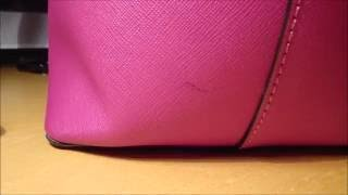 How to Remove an Ink Stain on Your Saffiano Leather Kate Spade Purse. WARNING! MAY FADE OR DAMAGE