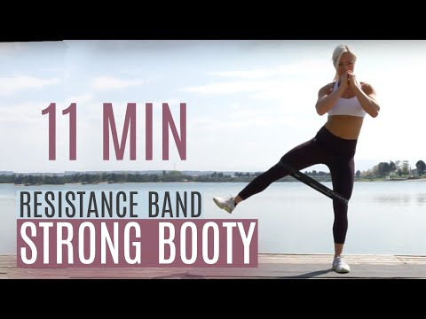 Resistance Band Booty Workout | Strong Glutes at Home Workout