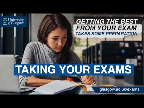 Taking exams at the University of Glasgow