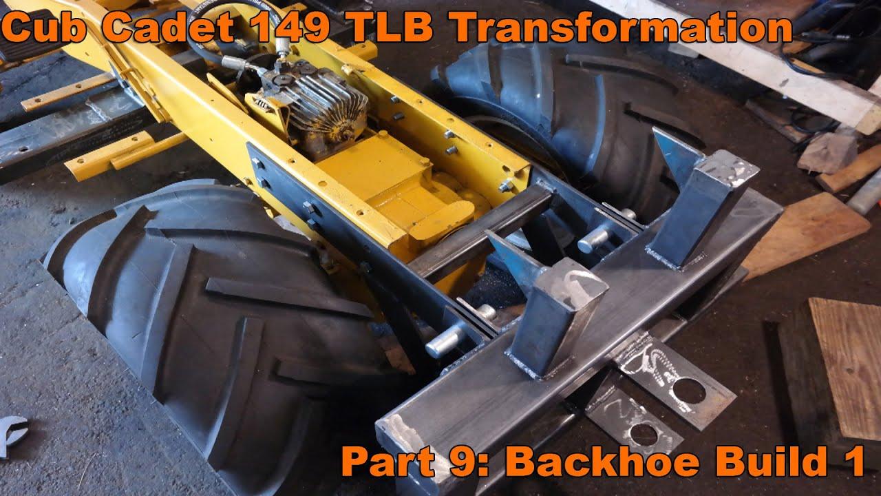 Cub Cadet 149 TLB Transformation Part 9 Backhoe Build 1 YouTube – Backhoe Plans For Garden Tractor