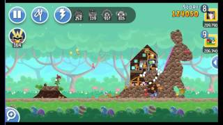 Angry Birds Friends Easter Tournament ● LEVEL 6 ● 225 K HD ● Week 202 ●  POWER UP