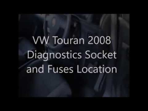 vw touran diagnostics socket and fuses location youtube rh youtube com vw tiguan wiring diagram volkswagen touran fuse box diagram