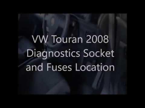 VW Touran Diagnostics Socket and Fuses Location - YouTube